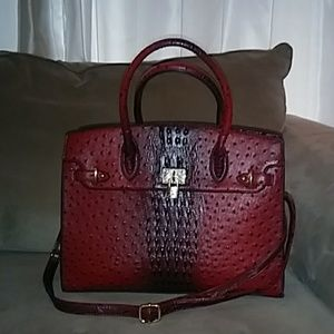 Handbags - Red large purse. Gold accents